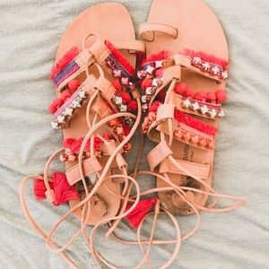 Colorful Tie Sandals